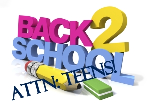 teens back to school